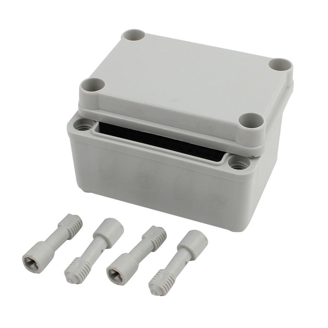 uxcell 95mm x 65mm x 55mm Dustproof IP65 Junction Box DIY Case Enclosure Gray