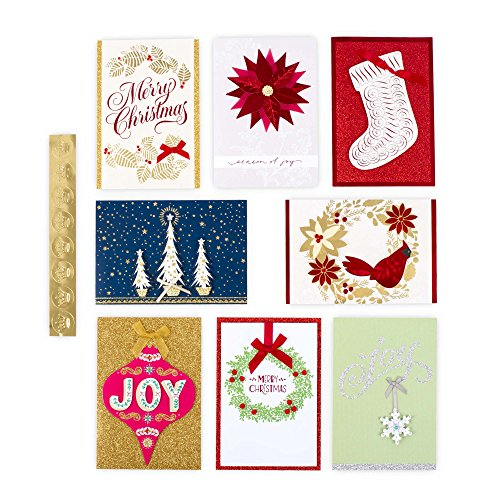 Hallmark Christmas Handmade Boxed Assorted Greeting Cards Set (Pack of 24) - Holiday Card Assortment Boxset with Envelopes Photo #10