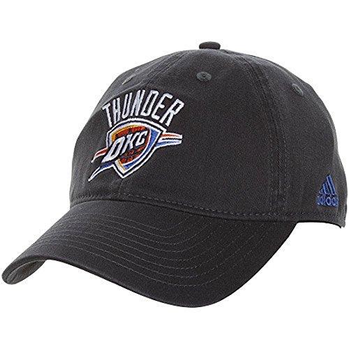 NBA adidas Oklahoma City Thunder Basic Logo Slouch Flex Hat - Navy Blue (One Size) ()