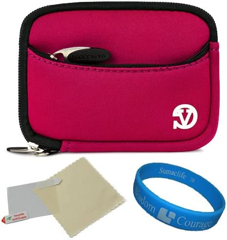 VanGoddy Mini Glove Sleeve Pouch Case for SVP Aqua 5500 Waterproof Digital Cameras and Screen Protector Magenta