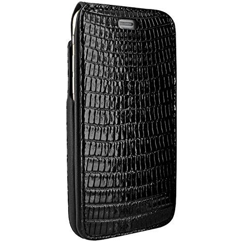 Piel Frama U7 60LA Etui souple en cuir pour iPhone 7 Lézard Noir