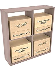 Wine Racks America Redwood Solid Case Storage Bin 13 Stains To Choose From