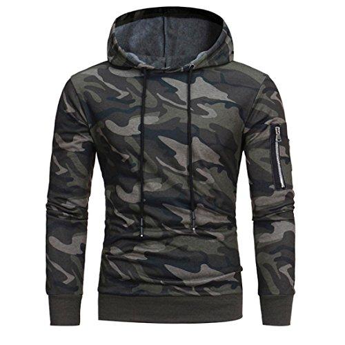YANG-YI 2017 Mens' Long Sleeve Camouflage Hoodie Hooded Sweatshirt Tops Jacket Coat (3XL, (Handmade Camouflage)