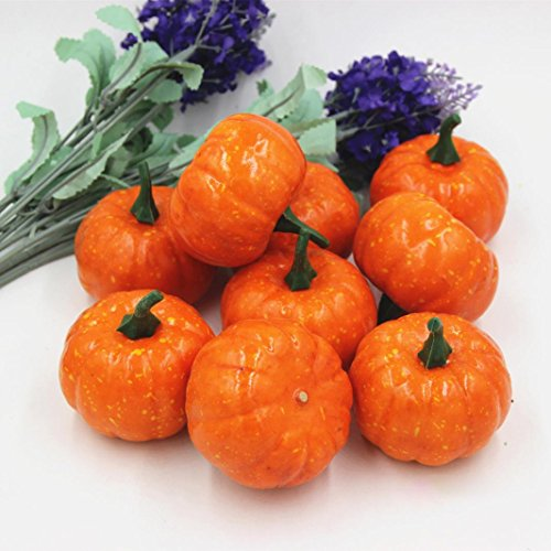 Halloween Mini Pumpkin, Misaky Artificial Simulation Lifelike Props Pumpkin Garden Home Decor (5.6cm, Orange) -