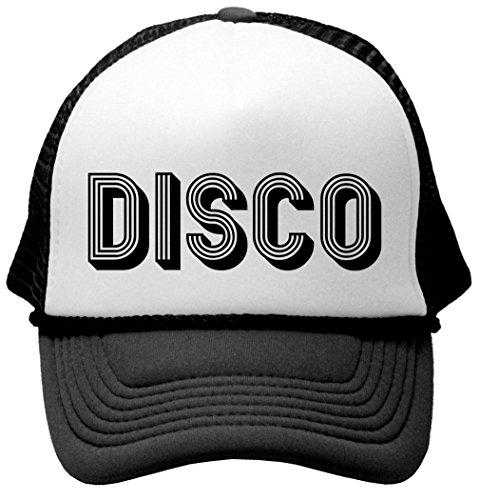 DISCO - music dance 70s retro funky Mesh Trucker Cap Hat, Black