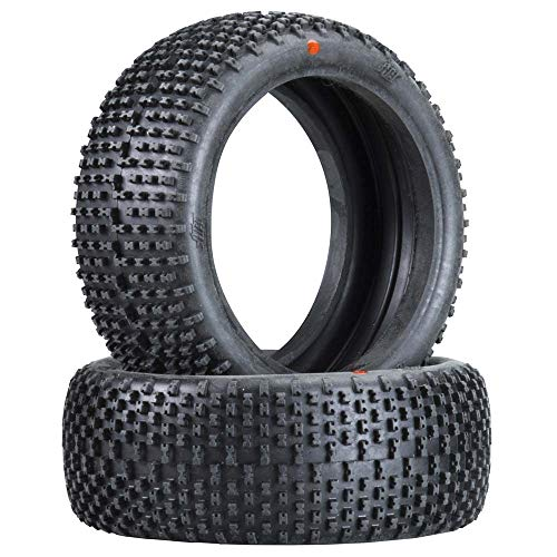 Hot Bodies 67758 Megabite Tire Red Buggy (1/8 Scale) (Set of 2) (1/8 Scale Buggy Tire)