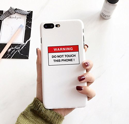 iPhone 6 PLUS / 6s PLUS (5.5) Warning DO NOT TOUCH THIS PHONE Handycase Schutzcase Handy Schutz Dont touch my phone Case Schutz weiss Hardcase - chillowtrix