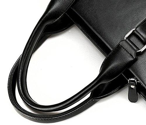 Hombres Negocios Casual Bolso Mochila Hombro Messenger Bag Bolsa Bolso Cartera Brown