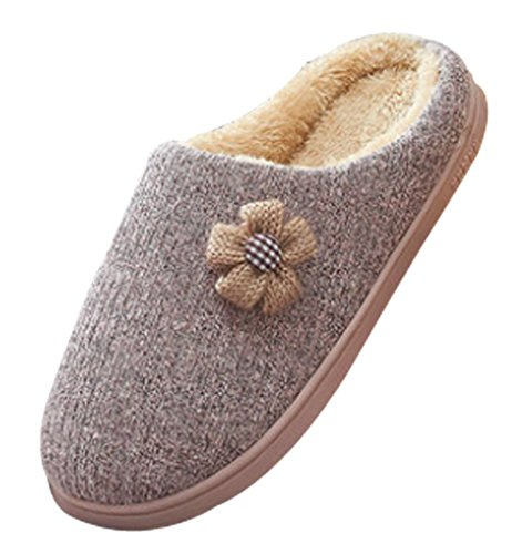 Cattior Womens Winter Warm House Slippers Bedroom Pantofole Rosa