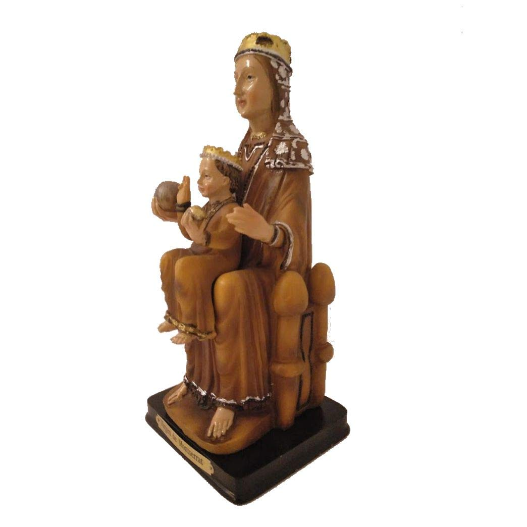 Pegatina de Regalo Figura Virgen de Montserrat en Resina epoxi Pintada a Mano 25 cms