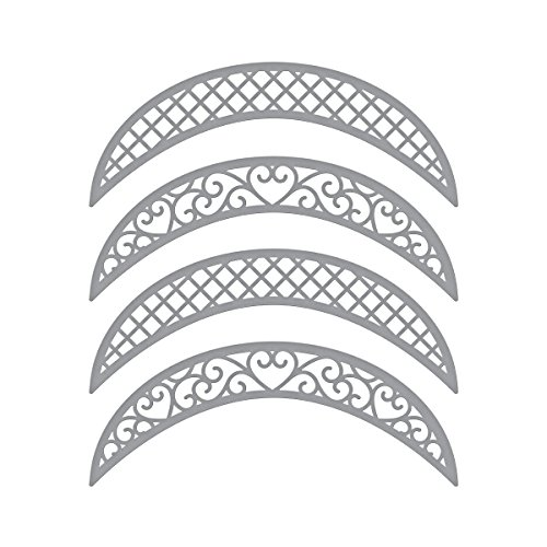 Spellbinders Shapeabilities Lunette Arched Borders Chantilly Paper Lace Etched/Wafer Thin Dies