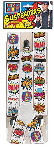 Forum Novelties 76939 Pop Art Braces Accessory Set, One Size