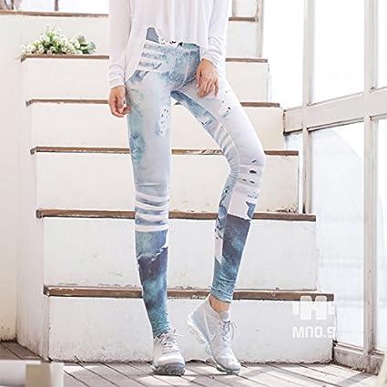 JIALELE Pantalon Yoga Sello Digital Campaña Stretch ...
