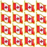20 Pcs Canada Flag Pin Canadian National Flag Lapel pins Brooch pin