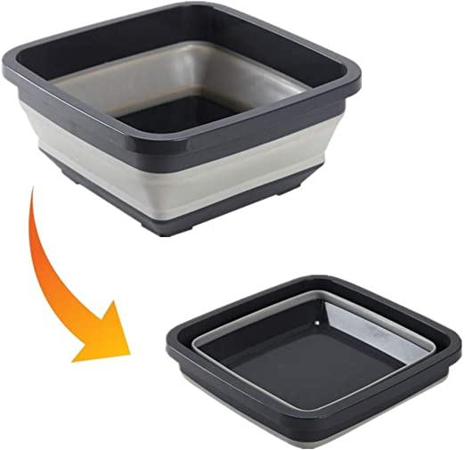FUNXS - Fregadero Plegable para Lavabo, Ligero, portátil, Plegable, de plástico, sin BPA, para casa, Camping, Cocina, Exterior, Barbacoa, Suministros para Comer al Aire Libre: Amazon.es: Jardín