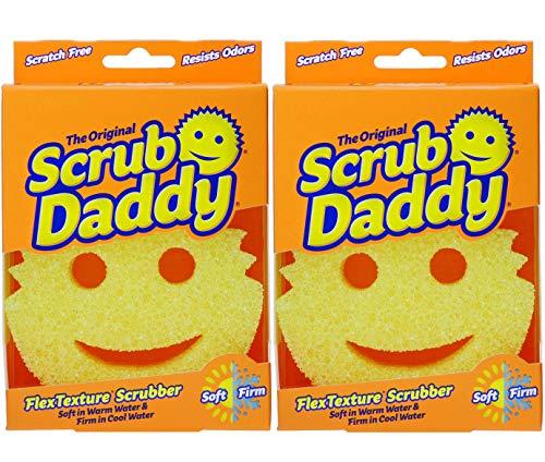 Scrub Daddy - Original Temperature Controlled Scrubber - Scratch Free & Odor Resistant - 2 Pack ()
