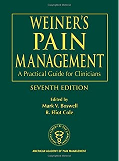 Buy weiner's pain management: a practical guide for clinicians.
