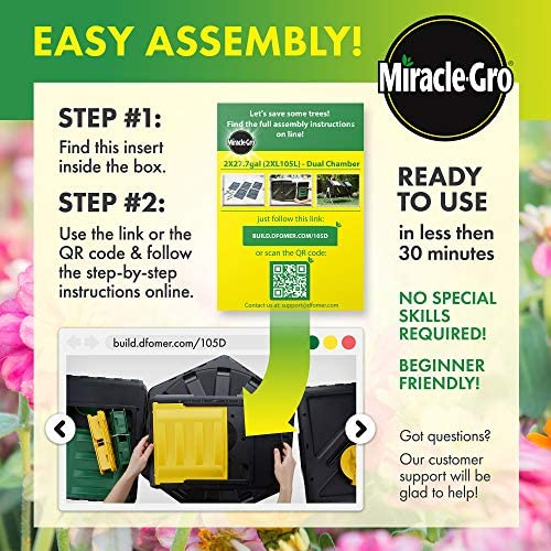 Amazon.com: Miracle-Gro Gran contenedor de compostaje de ...