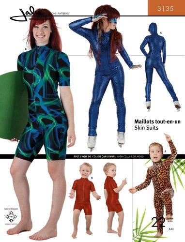 Jalie Skinsuits Wetsuit Swimwear Women Girls Sewing Pattern #3135