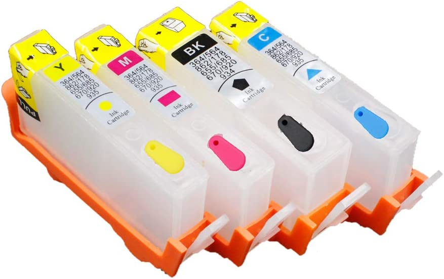 Empty refillable Ink Cartridge Replacement for HP 902XL 902 XL to use with Officejet Pro 6978 6968 6962 6958 6954 6960 6964,6965,6966, 6968,6970,6971,6974 Printers