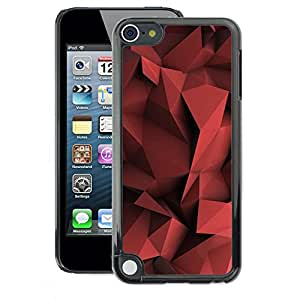 A-type Arte & diseño plástico duro Fundas Cover Cubre Hard Case Cover para Apple iPod Touch 5 (Blood Red Pastel Pattern Shape)