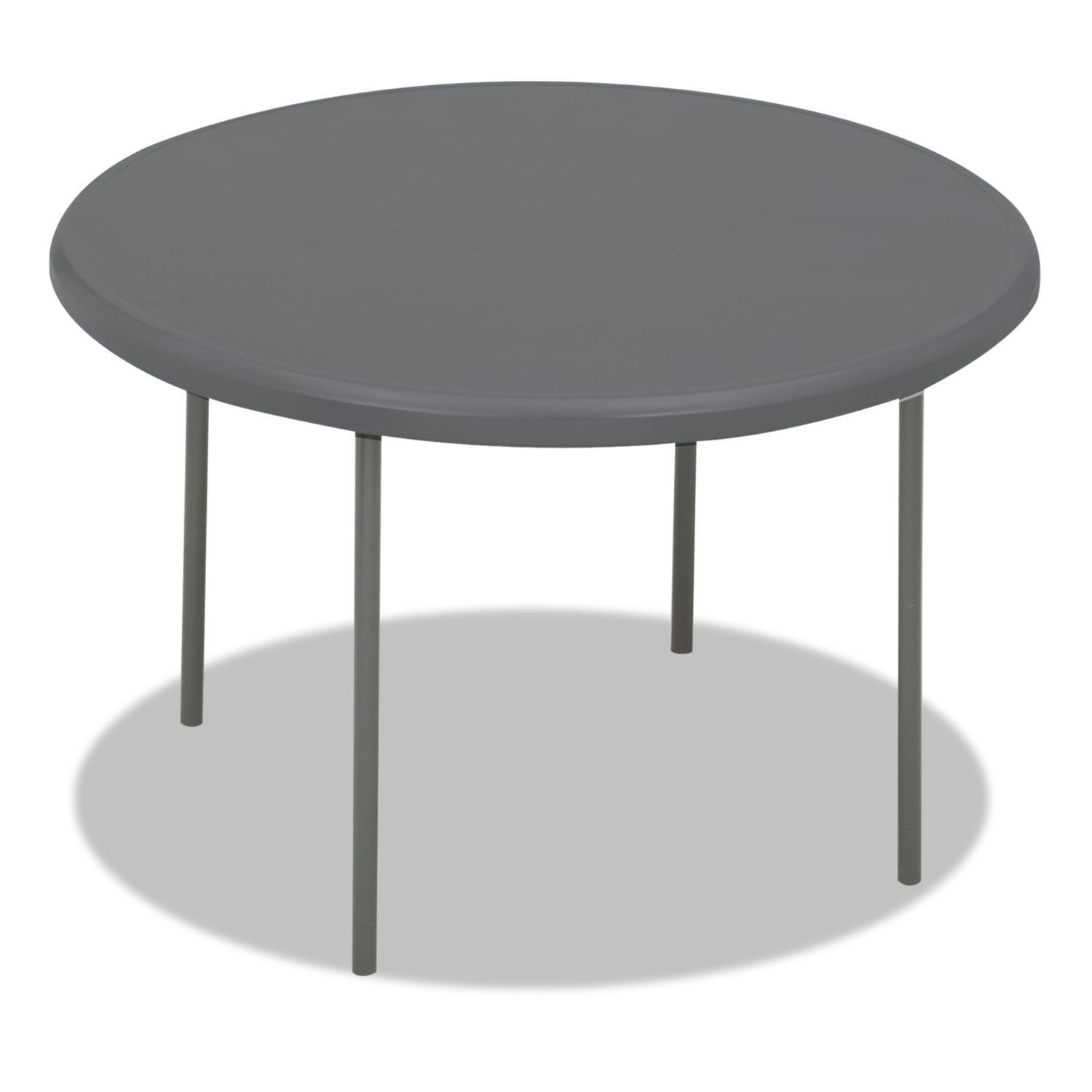 IndestrucTable TOO 1200 Series 48'' Round Folding Table Finish: Charcoal