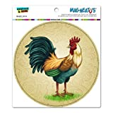 dishwasher magnet farm - Vintage Rooster on Floral Background - Chicken Farm Animal Bird Circle MAG-NEATO'S™ Automotive Car Refrigerator Locker Vinyl Magnet