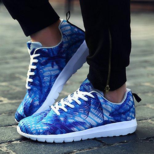 Dannto Road Running Sneakers Leichtathletik-Wanderschuhe für Frauen Männer Blau