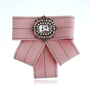 ZWH Tela Broche de Diamantes Ramillete Salvaje de Europa y América Pajarita Modelos de explosión de Ebay Amazon AliExpress (Color : Pink): Amazon.es: Electrónica