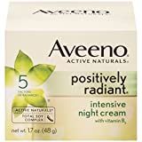 Aveeno Positively Radiant Intensive Night Cream Aveeno Positively Radiant Intensive Night Cream With Vitamin B3, 1.7 Oz