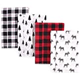 Hudson Baby Unisex Baby Cotton Flannel Burp Cloths, Moose, One Size