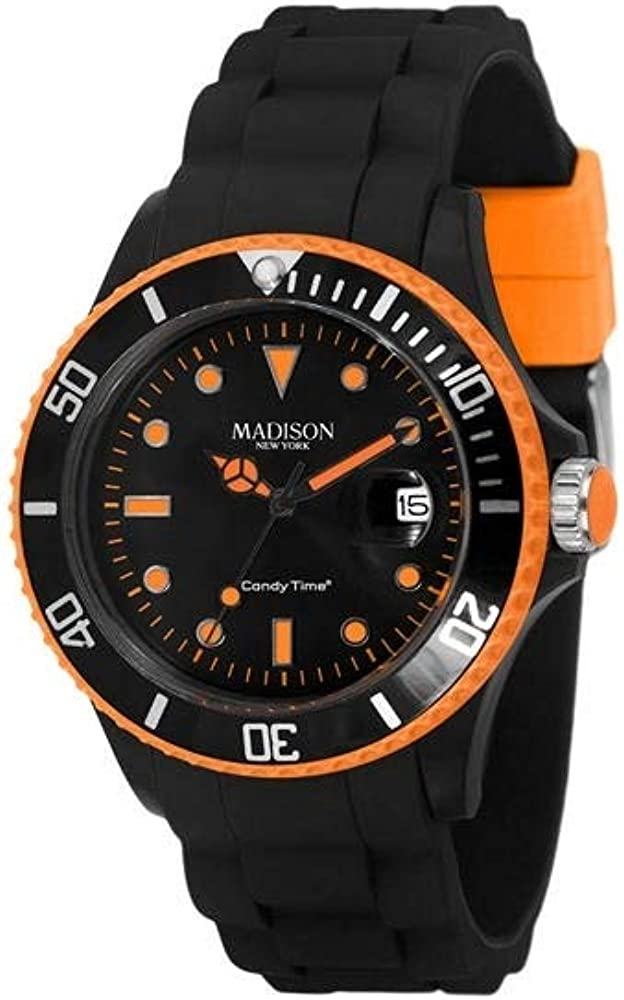 Madison Reloj Análogo clásico para Hombre de Cuarzo con Correa en Caucho U4485-42