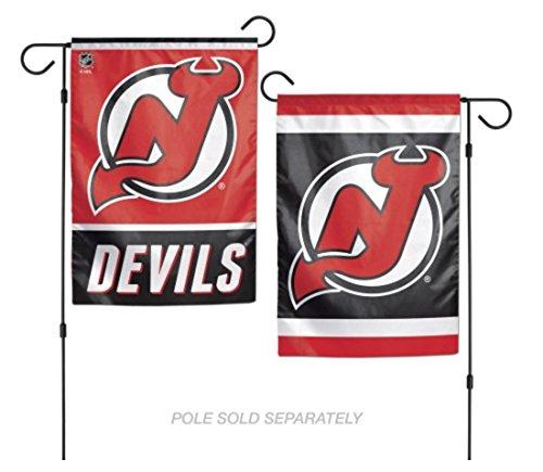 WinCraft NHL New Jersey Devils Garden Flag 12.5 x 18 - New Jersey Flower