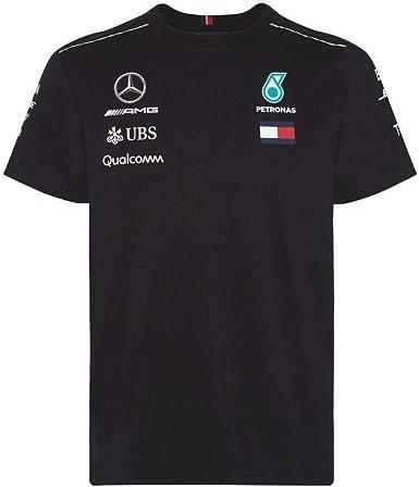 Large para Hombre L Camiseta Gris Mercedes AMG Petronas Mercedes Amg Logo tee Gray