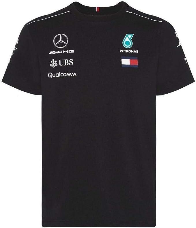 Mercedes AMG Petronas F1 Mens Driver Camiseta 2018: Amazon.es ...