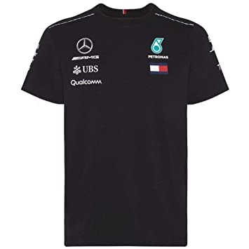 cc7bc756cdb Mercedes AMG Petronas F1 Mens Driver T-Shirt 2018: Amazon.co.uk ...