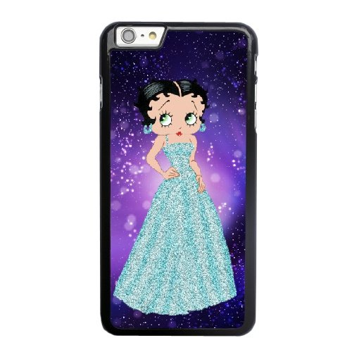 Coque,Apple Coque iphone 6 6S (4.7 pouce) Case Coque, Glitter Betty Boop Phone Case Cover for Apple Coque iphone 6 6S (4.7 pouce) Noir Plastic Ultra Slim Cover Case Cover