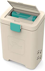 PawPail Pet Waste Station | Outdoor Dog Waste Disposal Container | Dog Poop Trash Can | Includes 1 Large Roll of 200 Leakproof Dog Poop Bags + 1 Air Filter | Perfect for Home or Small Business