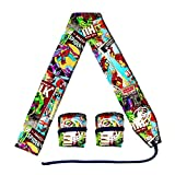 wod gear - Ultimate Super Hero Themed Fabric Wrist Wraps (1 Pair/2 Wraps) for Weightlifting   CrossFit   Powerlifting