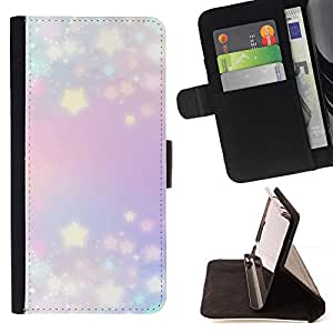 Jordan Colourful Shop - Stars Glitter Purple Blue Lights Blue For Apple Iphone 5C - Leather Case Absorci???¡¯???€????€????????&