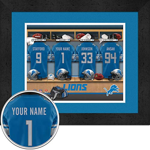 Detroit Lions Room Personalized Jersey Officially Licensed NFL Sports Photo 11 x 14 Print ()