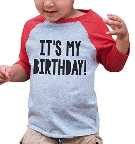 7 ate 9 Apparel Kids It's My Birthday Red Baseball Tee 12 - First Baseball Shirt