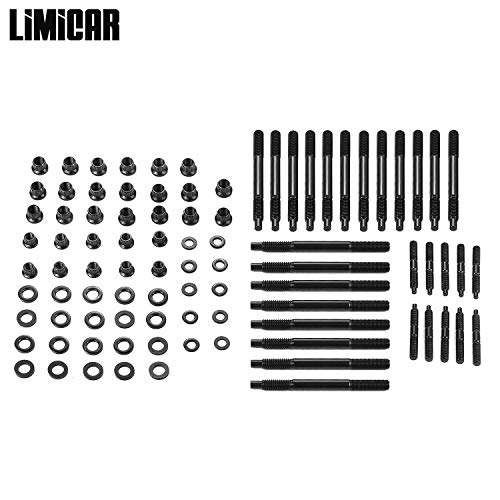 LIMICAR Cylinder Head Stud Kit For 2002 2003 2004 2005 2006 Chevy LS Engine 12 Point Head Studs PC2464 -