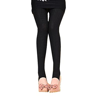 77971caa69f32b Transer Thermal Highwaist Cotton Leggings, Women Warm Fleece Lined Full  Length Stretchy Tights Lady Skirts