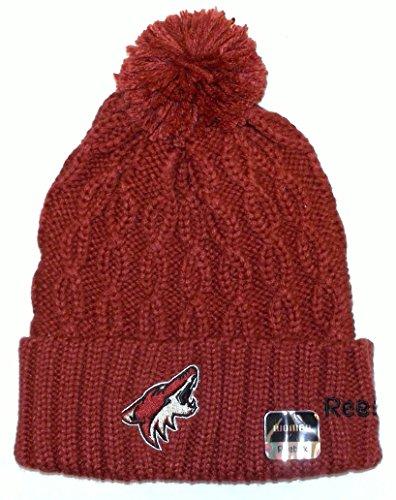 release date: 8d597 0e981 NHL Phoenix Coyotes Cuff W pom Knit Reebok HAT - Women - KE68W