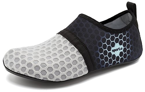 Barefoot adituob for and Shoes Women Aqua L Swim Beach Water Men gray Socks Pool Sports Exercise nrvqrI