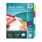 Avery Index Maker White Dividers, Multicolor 5-Tab, Letter
