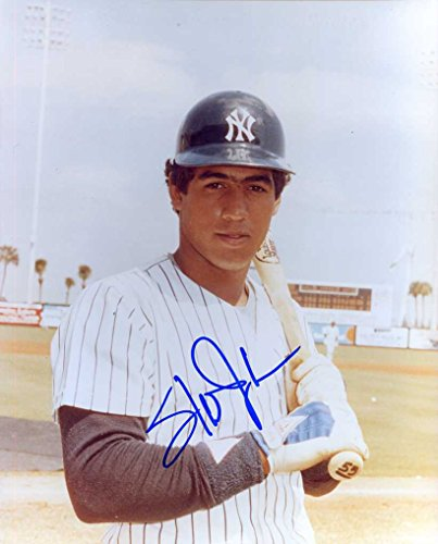 (Stan Javier Autographed/Original Signed 8x10 Color Glossy Photo Showing Him w/the New York Yankees -COA)