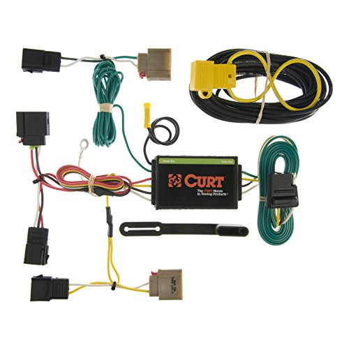 CURT 55050 Vehicle-Side Custom 4-Pin Trailer Wiring Harness for Select Dodge Caliber, Jeep Compass, Jeep Patriot
