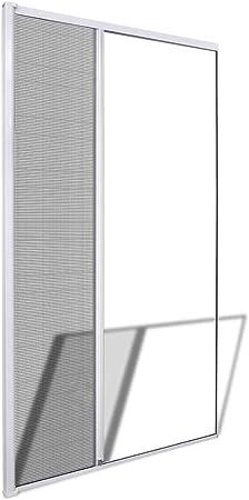 vidaXL Mosquitera Fija Puertas Abatibles Blanca 120x215cm Malla ...